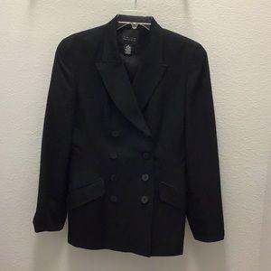 Vintage black double breasted jacket
